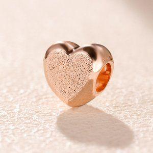 Matte Brilliance Heart Charm